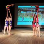 показательное выступление- спортивная акробатика